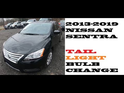 How to change replace Tail light bulbs in Nissan Sentra 2013-2019
