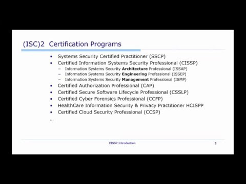 CISSP Introduction by Adrian Mikeliunas for Udemy Course