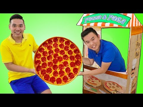 Funny Uncle John Pretend Play W/ Pizza Food Kitchen Restaurant Cooking Kids Toys