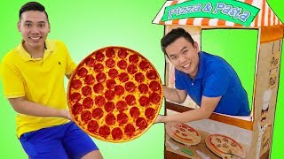 Download Funny Uncle John Pretend Play w/ Pizza Food Kitchen Restaurant Cooking Kids Toys Mp3 and Videos