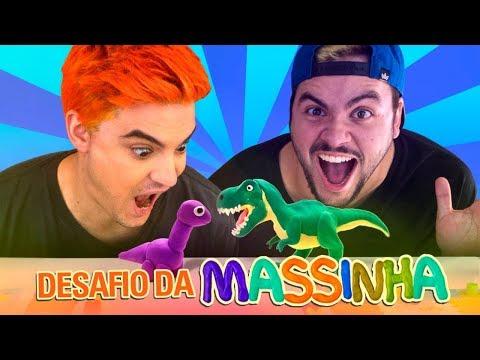 DESAFIO DA M�MICA COM MASSINHA! LUCCAS VS FELIPE!