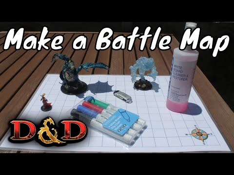 D&D (5e): How to make a Blank Battle Map  - YouTube