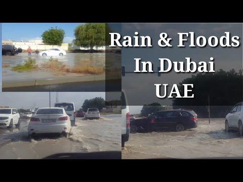 2020's Heavy Rain In Dubai UAE / Floods In Dubai United Arab