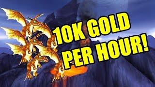 World of Warcraft How To Make Gold Farming Spot Bronze Whelpling