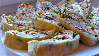 Салат Мимоза в лаваше Рулет из лаваша Мимоза Холодные закуски на праздничный стол