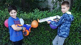 Nerf Balon Patlatma Challenge   Retaliator Elite Tanıtımı