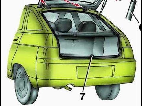 Как убрать дребезжание обшивки крышки багажника на ваз 2112