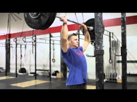 CrossFit WOD Demo 120430 - Shoulder Press x5