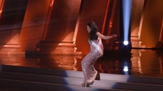 Watch This Miss Universe Contestant Recover from Nasty Tumble