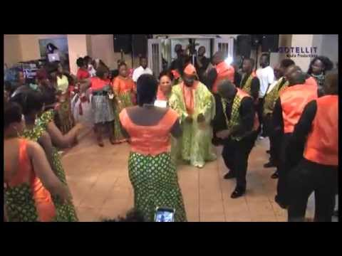 Traditional Liberian Wedding Dance at a Wedding Reception~ James and Lucy kudee