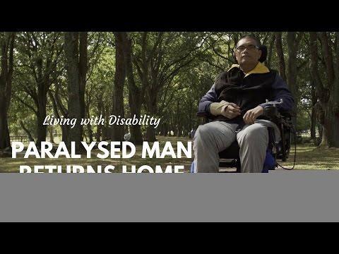 Paralysed Man Returns to Tuvalu