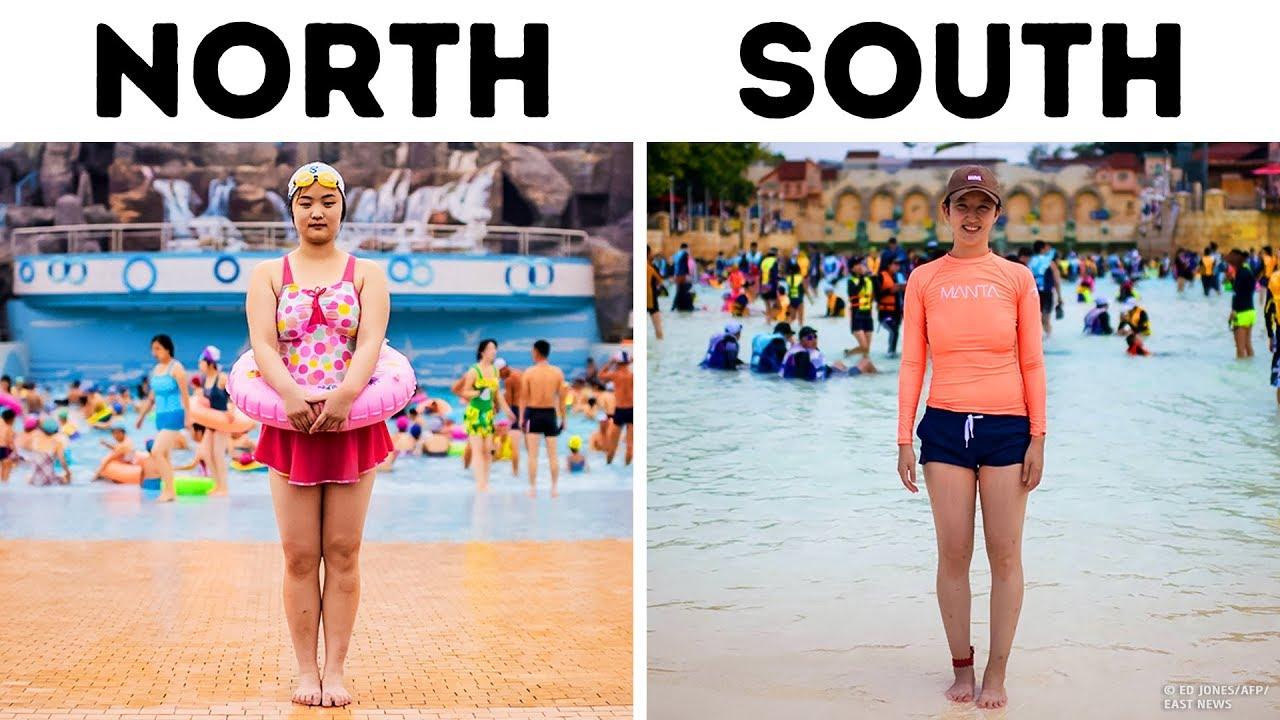 Ein Fotograf zeigt Unterschiede zwischen Nord- und Südkorea + video