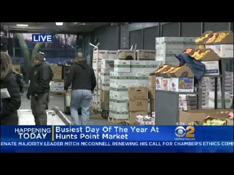 Busiest Day Of The Year At Hunts Point Market