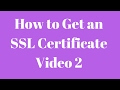 How to get an SSL Certificate for your Wordpress Site SECURITY Part 2