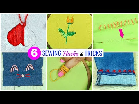 6-amazing-sewing-hacks-every-teenager-must-know…- -#nostitching-#lifehacks-#anaysa-#diyqueen