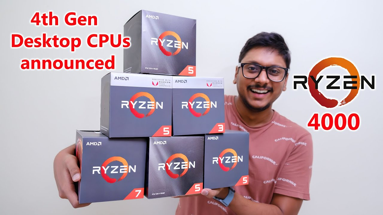Amd Ryzen 4th Gen Cpus Announced But The Bad News Is Youtube
