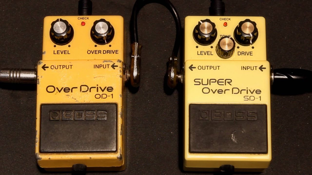 boss overdrive od 1 japan vs boss super overdrive sd 1 taiwan