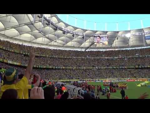 Brazil 4x2 Italy - Brazilian Anthem - Fonte Nova Stadium - Salvador (Bahia - Brazil)