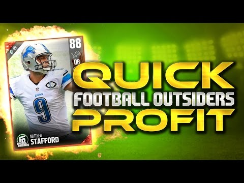 HOW TO MAKE A NICE, QUICK COIN PROFIT on FOOTBALL OUTSIDERS in Madden 17 Ultimate Team!