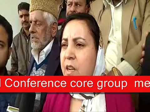 National Conference core group meeting In Aanantnag