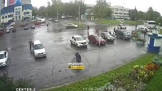 Новосибирск. Наезд на пешехода.