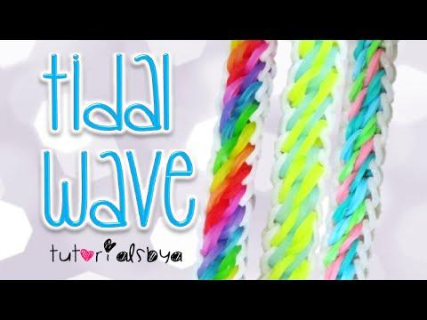 NEW Tidal Wave Rainbow Loom Bracelet Tutorial | How To