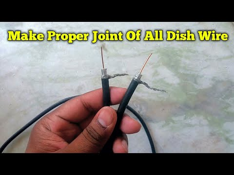 How to make Proper Wire Joint of All Dish Wire | Dish Cable Connection | RG6 Connector Installation