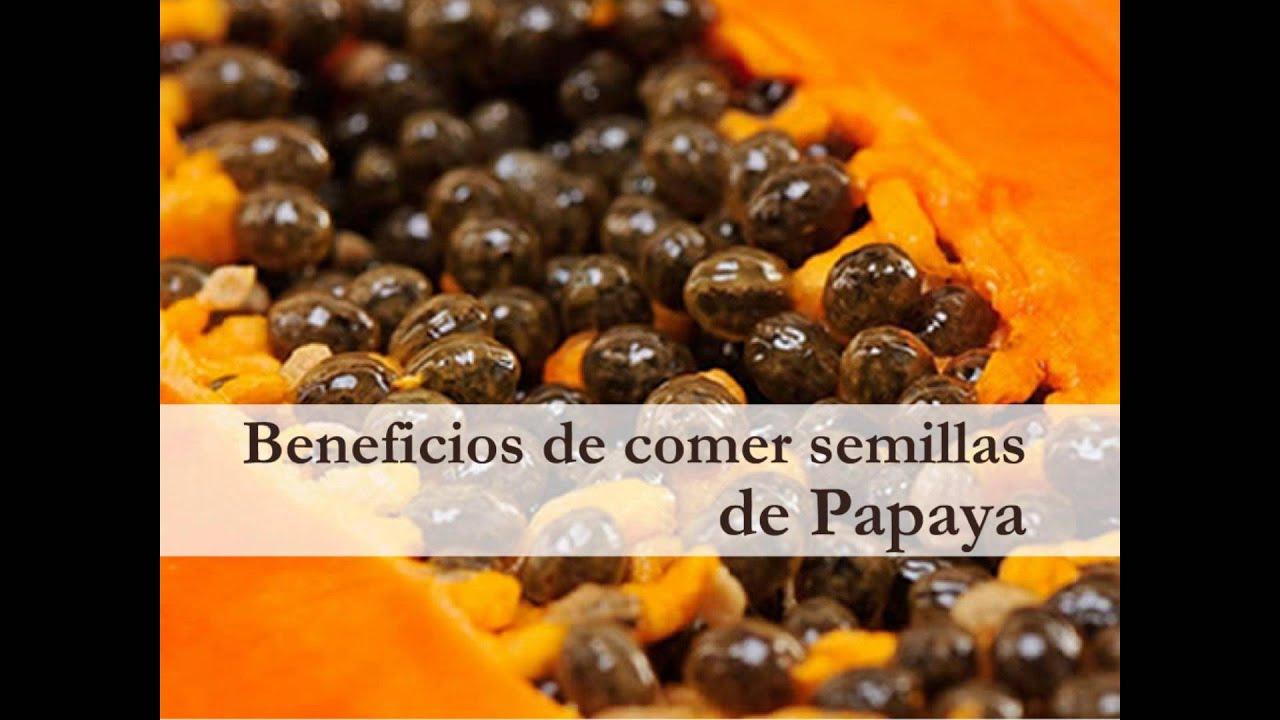 beneficios de comer la semilla de la papaya