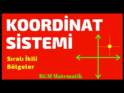 Koordinat Sistemi Sıralı İkili Ve Bölgeler / 8.Sınıf LGS 2020 Matematik