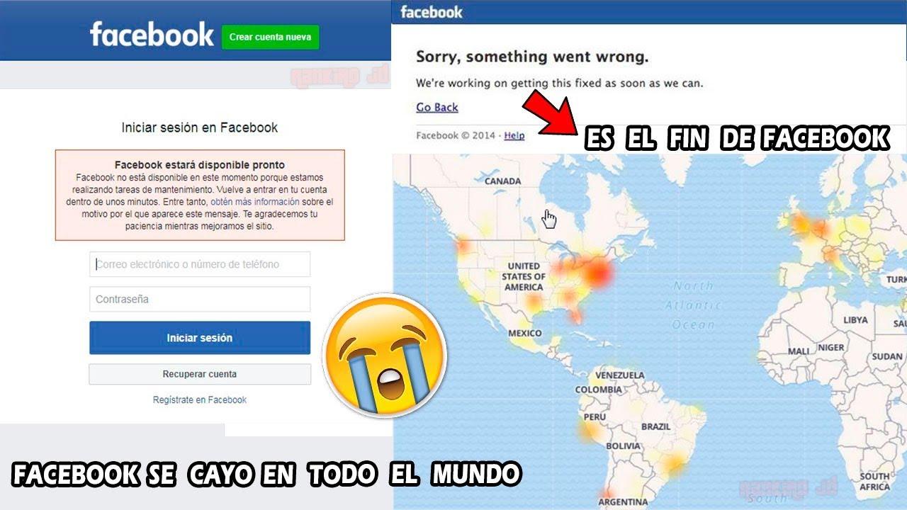 Facebook Se Cayo Hoy En Todo El Mundo Es El Fin De