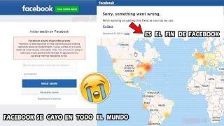 Facebook se cayo Hoy en todo el Mundo Es el Fin de Facebook