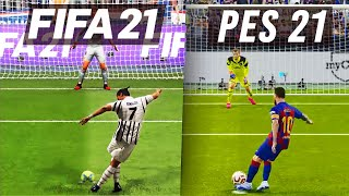 FIFA 21 vs PES 21: Penalty Kicks
