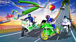 Police Bike Mega Ramp Impossible Bike Stunt Games | Android GamePlay