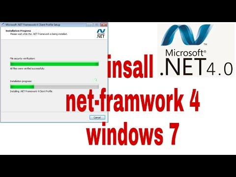 How To Install Net Framework 4 On Windows 7 32 64 Bit Youtube