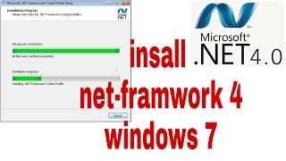 how to install Net Framework 4 on windows 7  fix net framework v4.0.30319 error problem solve