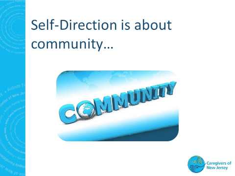 What is Self Direction? Webinar by Caregivers of NJ