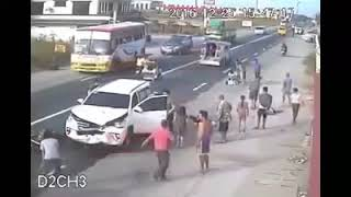 VIRAL VIDEO   Car Accident caught on CCTV ! Real Life Fun