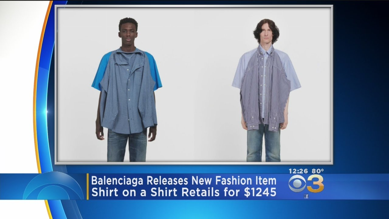 8197cdad4771 Balenciaga Releases T-Shirt On Shirt For $1245 - YouTube