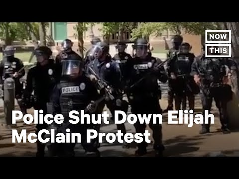 Police Show Up in Riot Gear at Peaceful Protest for Elijah McClain | NowThis