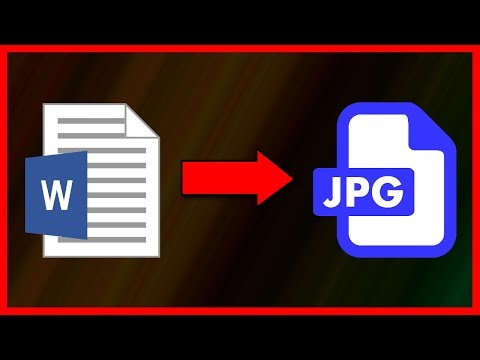 How To Convert Word .Doc/.Docx File To A .JPG Image - Tutorial