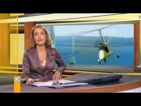 Mit dem Gyrocopter zur Arbeit (SAT1 Nachrichten, N24 und Kabel1)