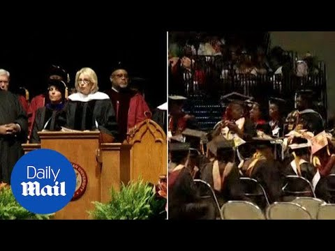 Betsy DeVos booed while giving college graduation speech - Daily Mail
