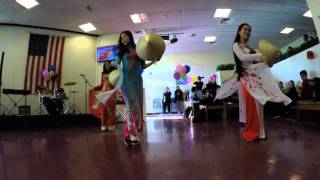 Vietnam folk dance. 4k
