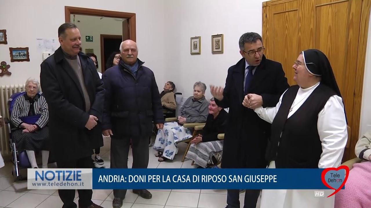 ANDRIA: DONI PER LA CASA DI RIPOSO SAN GIUSEPPE - YouTube