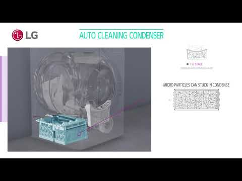 LG Dual inverter New Classic Dryer Auto Cleaning Condenser User Scene Video