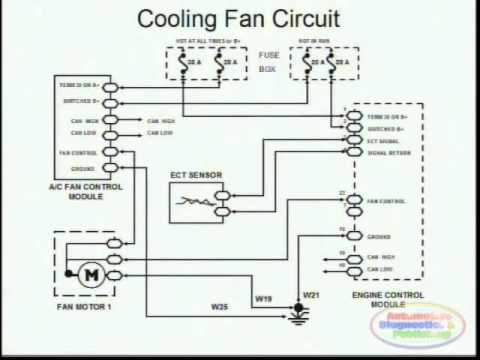 cooling fans & wiring diagram youtube 2000 Jetta Fuse Box Locations at 2005 Aux Cooling Faan Fuse Box