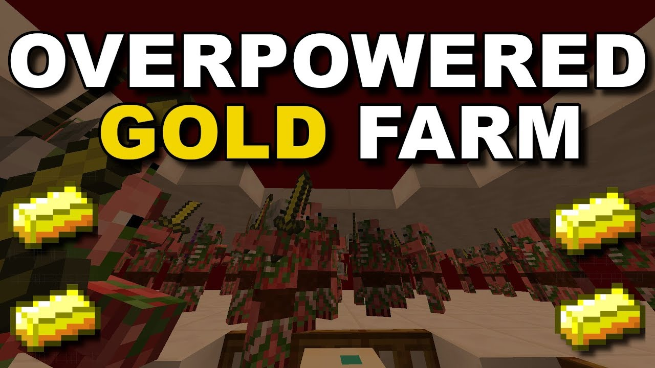 1 15 Easy Efficient Gold Farm Expandable Minecraft Tutorial Youtube