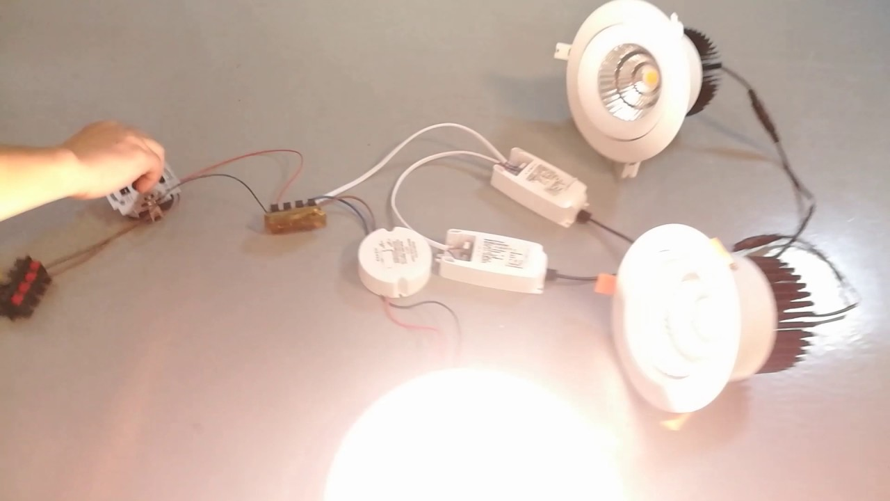 How To Build Triac Light Dimmer Dimmable And Flicker Free Led Downlight Youtube