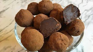 Шоколадные Трюфели / Домашние Конфеты / Chocolate Truffle Recipe / Простой Рецепт (Быстро и Вкусно)
