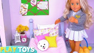 Baby Doll Dress up in Pink Bedroom for Tennis Lesson!